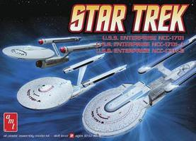 AMT Star Trek NC1701/1701A/1701B 3 in 1 Science Fiction Plastic Model Kit 1/537 Scale #660l/12