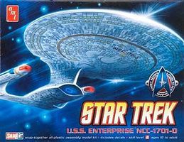 AMT Star Trek USS Enterprise NCC1701 (Snap) Plastic Model Spaceship Kit 1/2500 Scale #662l