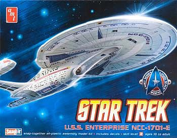 AMT/ERTL Star Trek Enterprise 1701-E -- Plastic Model Spaceship Kit -- 1/2500 Scale -- #663l