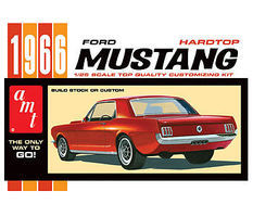 AMT 1966 Ford Mustang Hardtop Plastic Model Car Kit 1/25 Scale #704