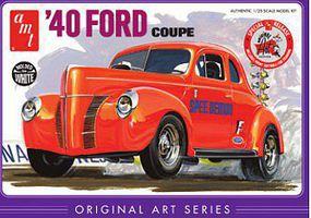 AMT 1940 Ford Coupe Original Art Series Plastic Model Car Kit 1/25 Scale #730_12