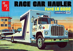 AMT Ford LN 8000 Race Car Hauler Plastic Model Truck Kit 1/25 Scale #758_06