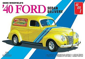 AMT/ERTL 1940 Ford Sedan Delivery Gene Winfield -- Plastic Model Car Kit -- 1/25 Scale -- #769/12