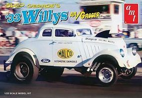 AMT Ohio George 1933 Willys Gasser Dragster Plastic Model Car Kit 1/25 Scale #770/12