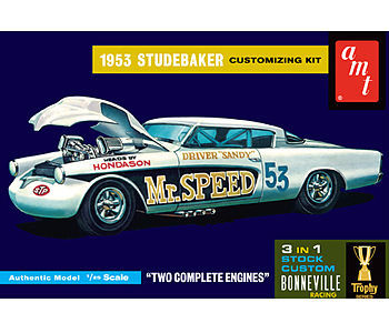 AMT/ERTL 1953 Studebaker Starliner Mr. Speed -- Plastic Model Car Kit -- 1/25 Scale -- #877_12