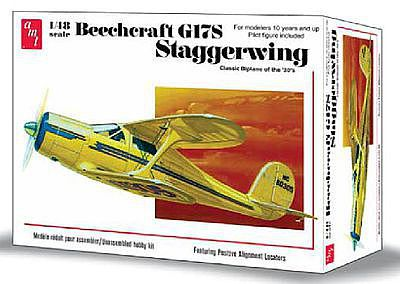 AMT/ERTL Beechcraft G17S Staggerwing -- Plastic Model Airplane Kit -- 1/48 Scale -- #886-12
