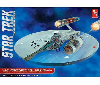 AMT/ERTL Star Trek TOS Enterprise Cutaway -- Science Fiction Plastic Model Kit -- 1/537 Scale -- #891-06