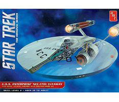 AMT Star Trek TOS Enterprise Cutaway Science Fiction Plastic Model Kit 1/537 Scale #891-06