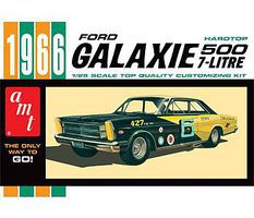 AMT 1966 Ford Galaxie Plastic Model Car Kit 1/25 Scale #904-12