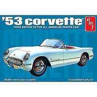 AMT 1953 Chevy Corvette Plastic Model Car Kit 1/25 Scale #910-12