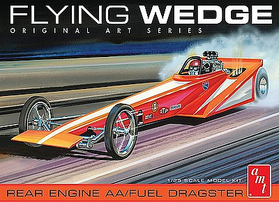 AMT Flying Wedge Dragster Original Art Serie Plastic Model Car Kit 1/25 Scale #927-12
