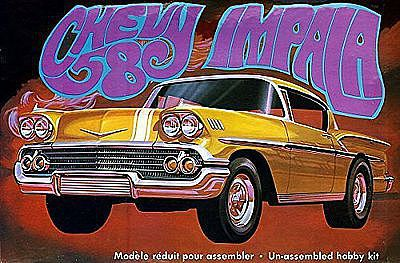 AMT/ERTL 1958 Chevy Impala Molded in Gold -- Plastic Model Car Kit -- 1/25 Scale -- #946