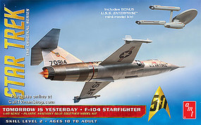 AMT Star Trek F-104 Starfighter Science Fiction Plastic Model Kit 1/48 Scale #953-12