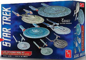 AMT Star Trek USS Enterprise Box Set Snap Science Fiction Plastic Model Kit 1/2500 #954-06