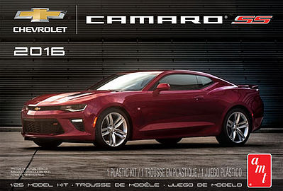 AMT/ERTL 2016 Chevy Camaro SS (Garnet Red) -- Plastic Model Car Kit -- 1/25 Scale -- #979