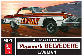 AMT 1964 Plymouth Belvedere Lawman Super Stk Plastic Model Car Kit 1/25 Scale #986-12