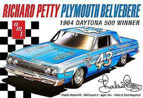 AMT Richard Petty 1964 Plymouth Belvedere Plastic Model Car Kit 1/25 Scale #989-12