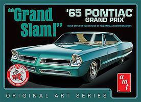 AMT 1965 Pontiac Grand Prix Grand Slam OAS White Plastic Model Car Kit 1/25 Scale #990-12