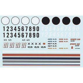 AMT 1/25 Road Racing Graphics Decals