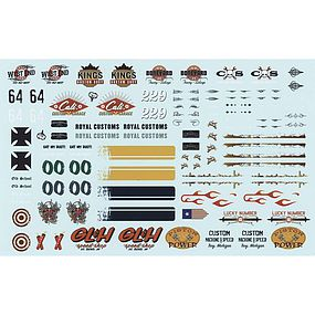 AMT 1/25 Rat Rod Graphics Decals