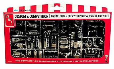 AMT/ERTL Chrysler & GM Corvette Corvair Motor Parts Pack -- Plastic Model Vehicle Accessory -- 1/25 -- #pp10