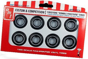 AMT Firestone Double Pinstripe Tire Pack Plastic Model Tire Wheel 1/25 Scale #pp19