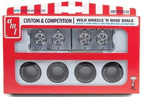 AMT Wild Wheels & Wide Ovals Tire Pack (4ea) Plastic Model Tire Wheel #pp20