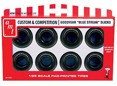 AMT/ERTL Drag Slicks Goodyear Blue Streak Tire Pack -- Plastic Model Tire Set -- 1/25 Scale -- #pp8