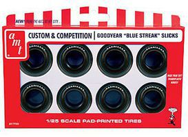 AMT Drag Slicks Goodyear Blue Streak Tire Pack Plastic Model Tire Set 1/25 Scale #pp8