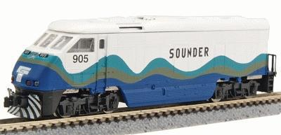 American Z Line EMD F59PHI - Standard DC - Sounder -- Z Scale Model Train Diesel Locomotive -- #6005