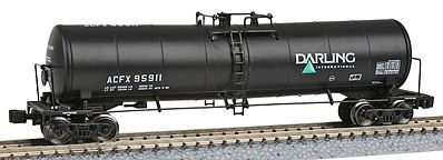 American Z Line 23,000-Gallon Funnel-Flow Tank Car 4 Car Pack - ACFX -- Z Scale Model Train Freight Car -- #905101