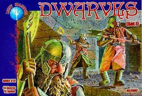 Alliance Dwarves Set #1 Mythical Figures (44) Plastic Model Fantasy Figure 1/72 Scale #72007