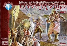 Alliance Dwarves Set #2 Plastic Model Fantasy Figure 1/72 Scale #72008