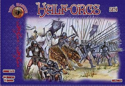 Alliance Half Orcs Set #4 (44) Plastic Model Fantasy Figure 1/72 Scale #72022