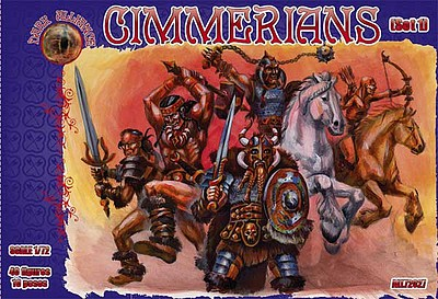 Alliance Cimmerians Set #1 Figures Plastic Model Fantasy Figure Kit 1/72 Scale #72027