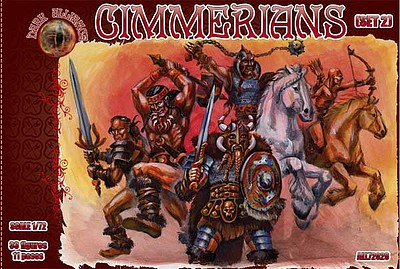 Alliance Cimmerians Set #2 Figures Plastic Model Fantasy Figure Kit 1/72 Scale #72028