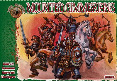 Alliance Mounted Cimmerians Figures Plastic Model Fantasy Figure Kit 1/72 Scale #72029