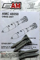 Advanced 1/48 OFAB250T High-Explosive Fragmentation Bomb (4) for Soviet Aircraft (D)