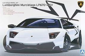 Aoshima Lamborghini Murcielago LP670-4 Superveloce Plastic Model Car 1/24 Scale #007082