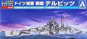 Aoshima German Battleship Tirpitz Plastic Model Military Ship 1/2000 Scale #009352
