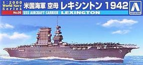 Aoshima USS Aircraft Carrier Lexington Plastic Model Military Ship 1/2000 Scale #009369