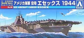 Aoshima USS Aircraft Carrier Essex Plastic Model Military Ship 1/2000 Scale #009376