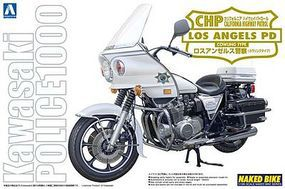 Aoshima Kawasaki Los Angeles Police Bike Plastic Model Motorcycle Kit 1/12 Scale #03305