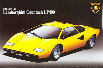 Aoshima Lamborghini Countach Lp400 Sports Car Re Issue Plastic