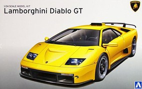 Aoshima Lamborghini Diablo GT Sports Car (New Tool) Plastic Model Car Kit 1/24 Scale #10501