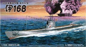 Aoshima I168 Imperial Japanese Navy Submarine Plastic Model Military Ship Kit 1/350 Scale #10648