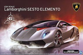 Aoshima Lamborghini Sesto Elemento Sports Car Plastic Model Car Kit 1/24 Scale #10747