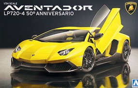 Aoshima 1/24 Lamborghini Aventador LP720-4 50th Anniversary Sports Car