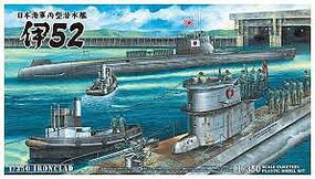 Aoshima I52 Imperial Japanese Navy Submarine Plastic Model Military Ship Kit 1/350 Scale #12260
