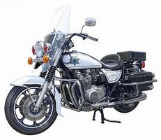 Aoshima Kawasaki 1000 Windshield Type CHP Police Motorcycle Plastic Model Kit 1/12 Scale #3312